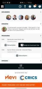 NEVI Networkapp screenshot mobile