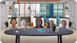 Networkapp Virtuele Huiskamer - office city view